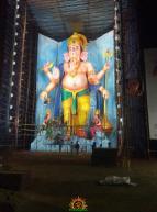 72-feet Ganapathi idol 2016 10 at Vijayawada Tallest