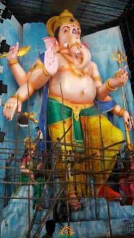 72-feet Ganapathi idol 2016 12 at Vijayawada Tallest