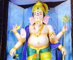 72-feet Ganapathi idol 2016 16 at Vijayawada Tallest