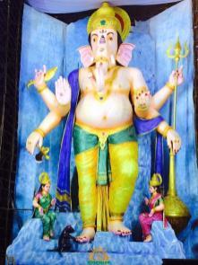 72-feet Ganapathi idol 2016 7 at Vijayawada Tallest