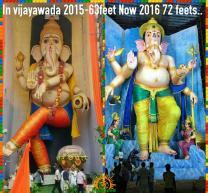 72-feet Ganapathi idol 2016 9 at Vijayawada Tallest
