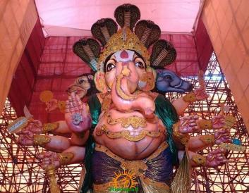 78-feet Ganesh idol Gajuwaka Vizag 5