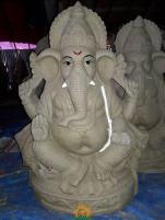 Clay Ganesha 3 feet