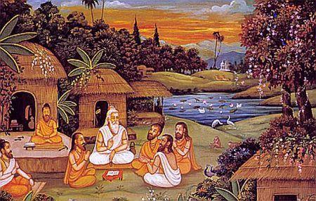 Ashram hermitage of sages