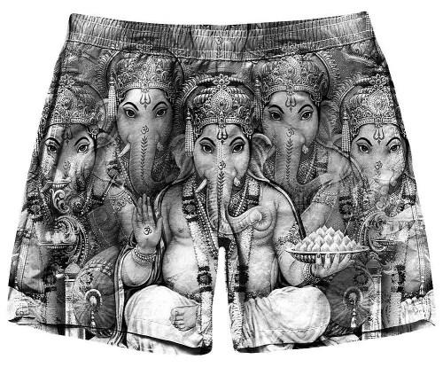 Ganesha BW Shorts by On Cue Apparel