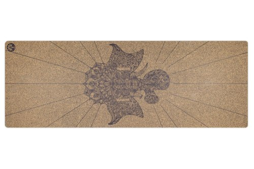 Ganesha Native Cork Yoga Mat by Yoloha