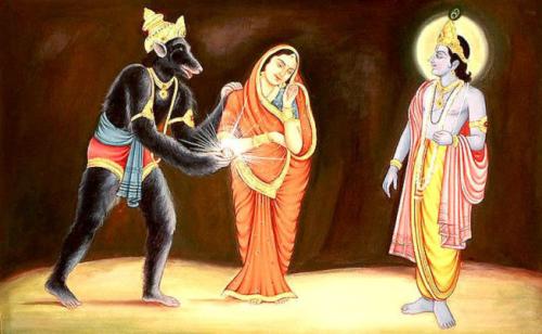 Jambavan with Krishna Jambavati