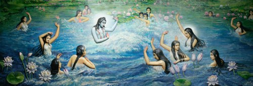 Lord Krishna Jalakreeda with Gopikas