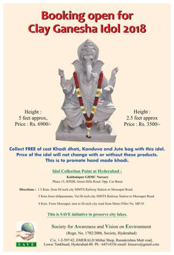 Save Eco Friendly Clay Ganesh Idols 2018 No Watermark