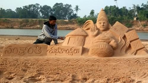 Sankranti-Sand-Sculpture-2019