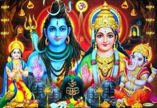 Shiva Parivar – Shiva, Parvati, Ganesha, Kartikeya