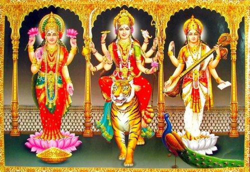 Tridevi Lakshmi Parvati Saraswati