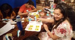 Workshop on a 3d pen drive organized by roohi Kansal, imagine n create