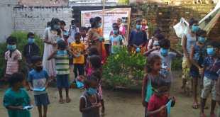 श्री उपवन चैरिटेबल फाउंडेशन के बच्चों में मास्क, सेनिटाइजर, स्नैक्स एवं स्टेशनरी का वितरण