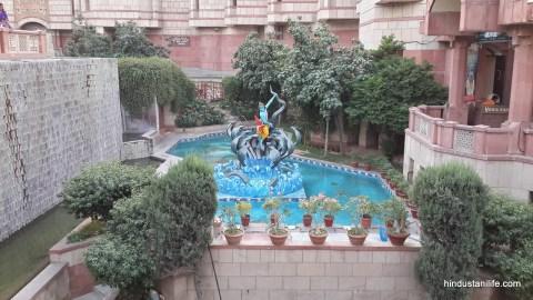 ISKCON Temple Delhi - Krishna Battling Snakes