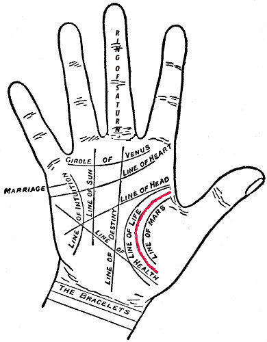 What Does Your Influence Line Indicate, Palm Readings