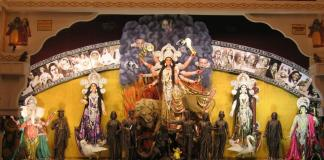 Maa Durga Wallpaper With Black Background