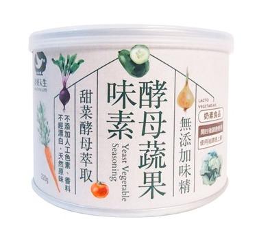 美好人生媽寶酵母蔬果味素220g-奶素 - 樂膳自然無毒蔬食超市