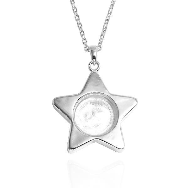 星星寶盒純銀項鍊銀飾|銀項鍊推薦 - Argent安爵銀飾