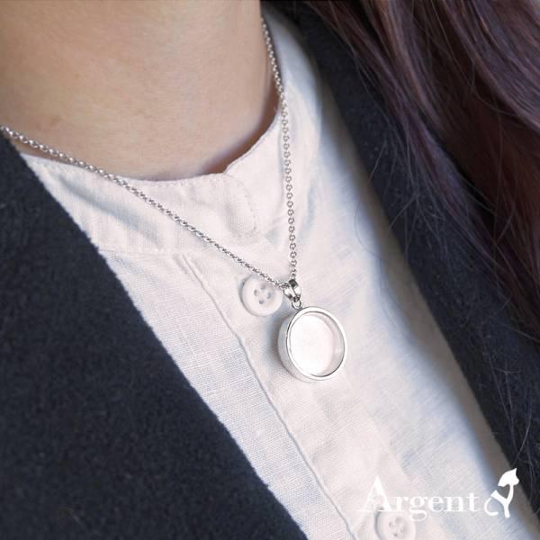 小圓寶盒(圓形.小.2公分)純銀項鍊銀飾|銀項鍊推薦 - Argent安爵銀飾