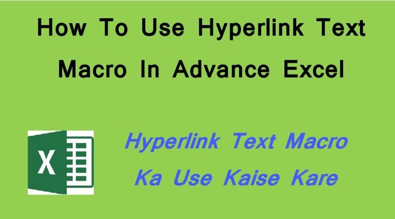 hyperlink text macro