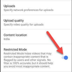 Youtube Mobile App Me Inappropriate Contents Block Kaise Kare