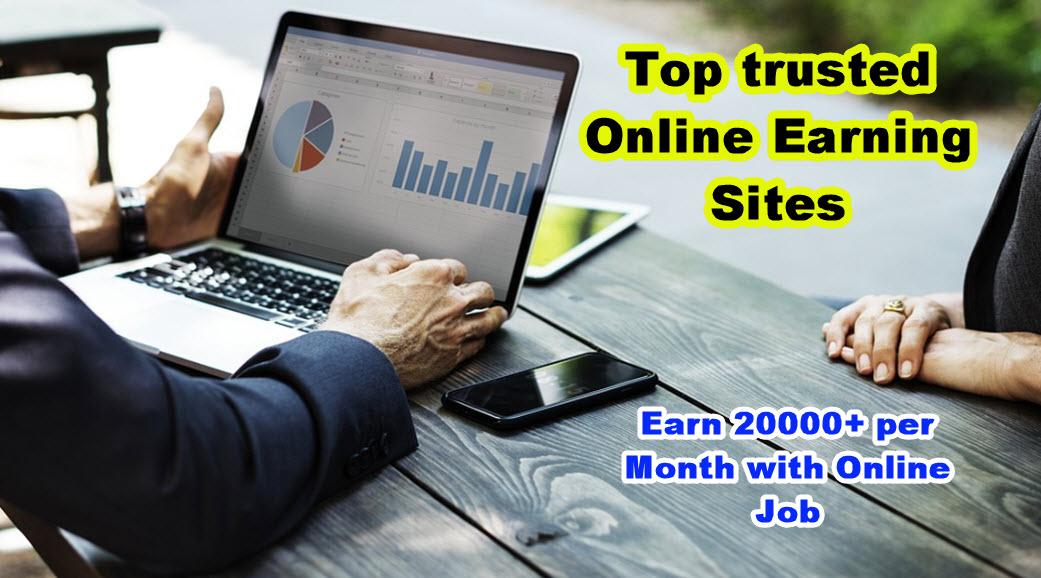 Top Trusted Online Earning Sites Se Ghar Baithe Paise Kaise Kamaye