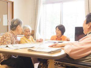 特別養護老人ホームのリビング
