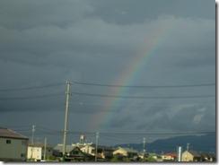 秋祭りの虹