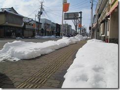 2月2日五泉駅前