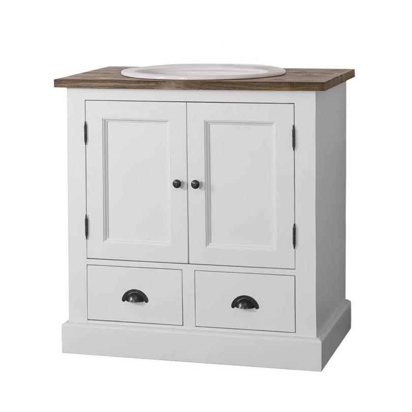 Mueble lavabo con puertas y tapa de roble  Hinterland