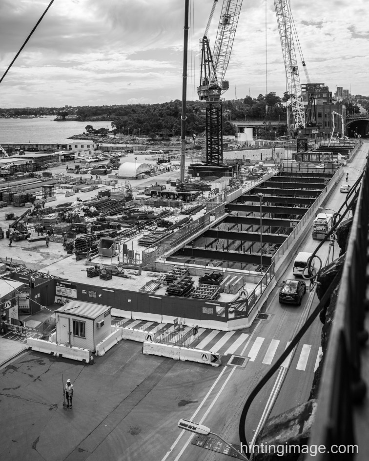 Barangaroo station under construction