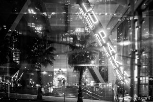 Chifley Sq Reflection black and white photo