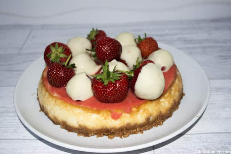 Coconut & Strawberry Cheesecake