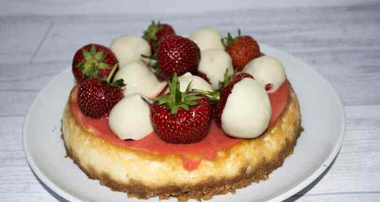 Coconut & Strawberry Cheesecake
