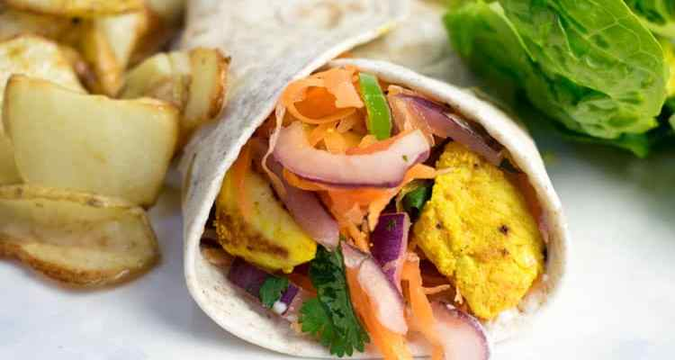 Healthy Spiced Chicken & Salad Wrap