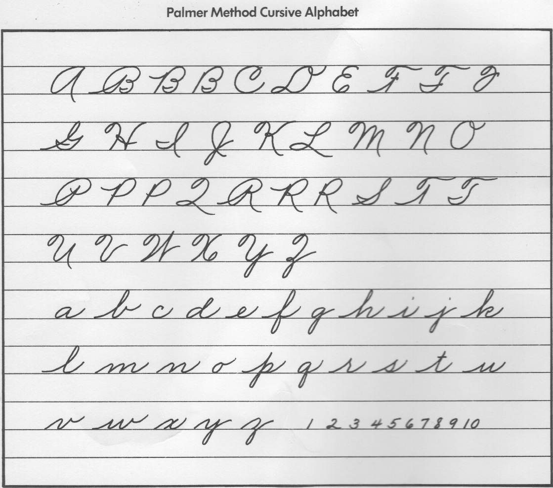 Cursive Handwriting Practice