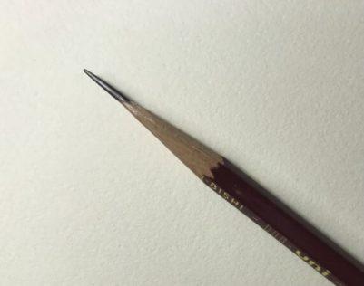 カッターで削った鉛筆