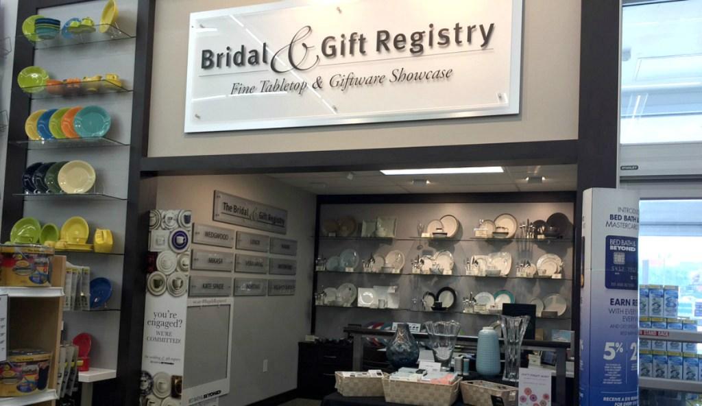 bed bath beyond registry wedding