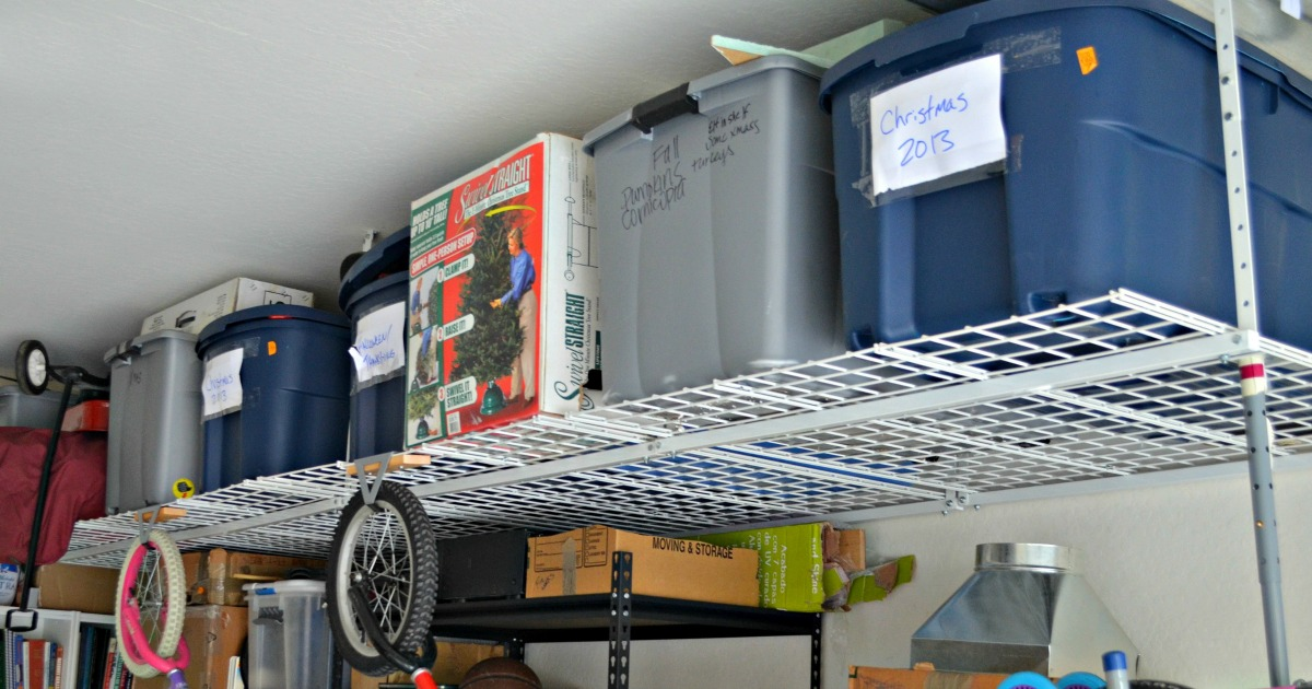 garage hanging storage shelves