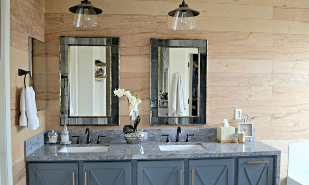 diy bathroom shiplap walls