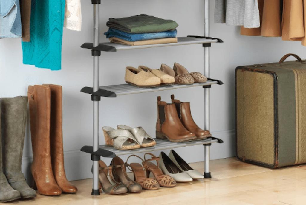 metal closet hanging shoe rack target