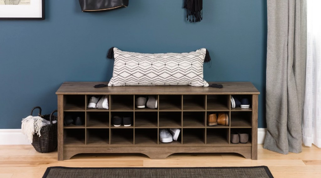 target wood cubby cubbies organizer furniture bench
