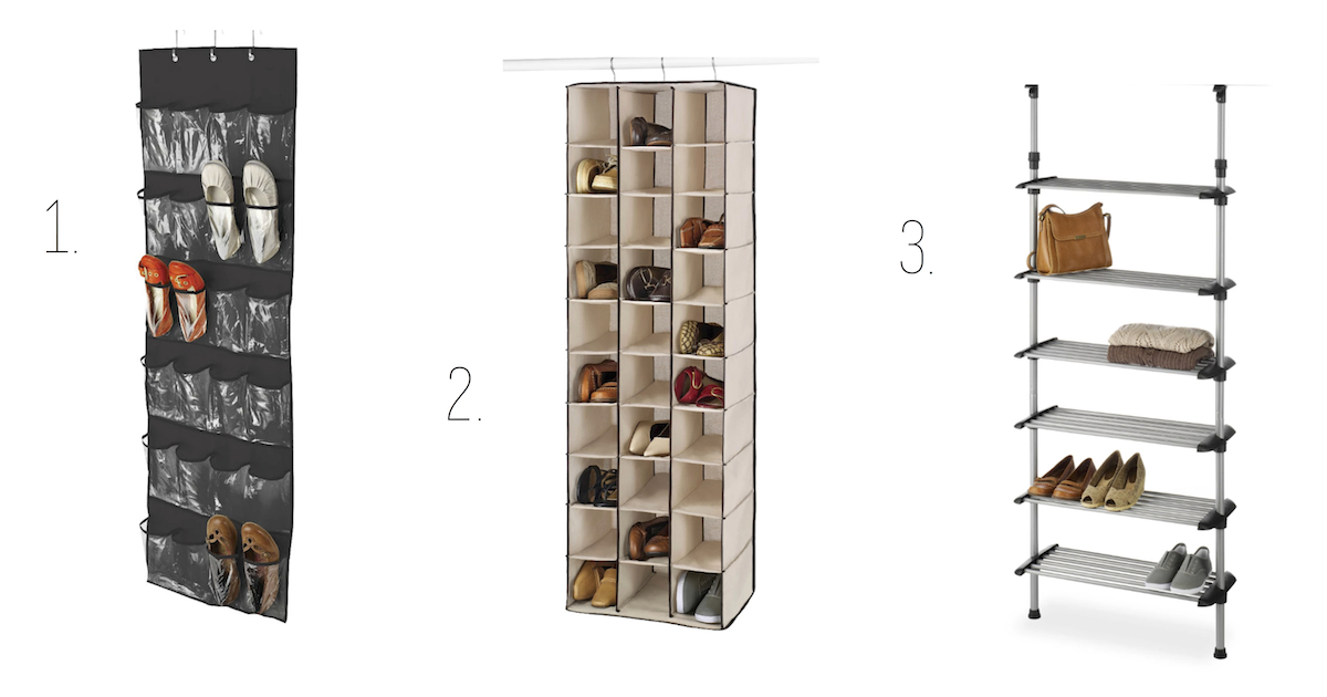 target hanging shoe storage: over the door hanger in canvas cubbies for small spaces