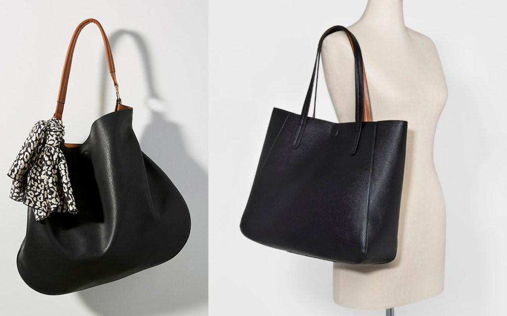 anthropologie target black brown everyday tote bags reversible