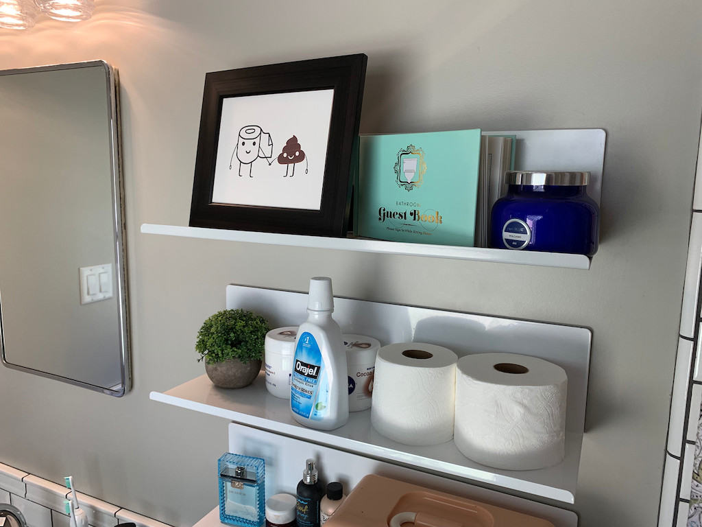 White Metal Floating Wall Shelves from Target
