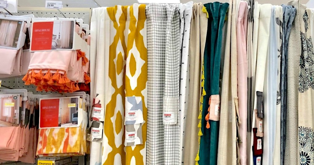 Colorful window treatments from Target