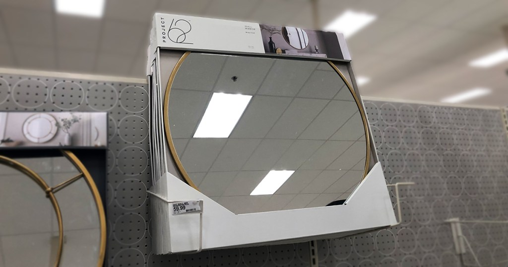 target wall decor — large round brass mirror from project 62