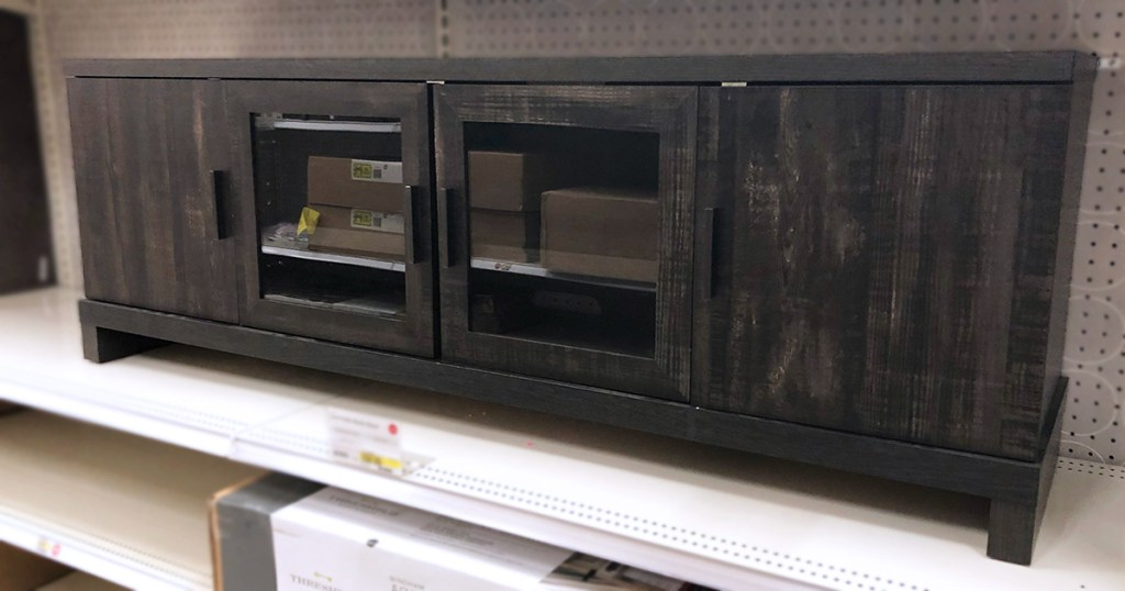 target home furniture finds — rustic pine console tv stand