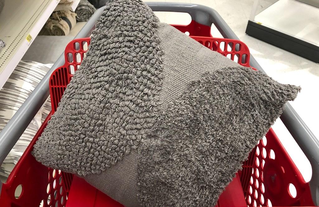 target pillows — textured grey throw pillow